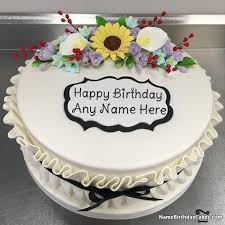 birthday cake for friend with name and photo