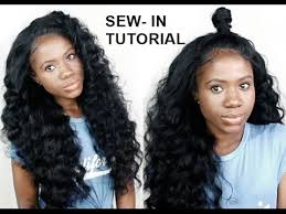 full sew in weave with no hair out how to do sew in weave with no leave out for beginners youtube