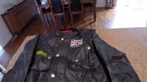 barbour union jack international wax jacket unboxing youtube
