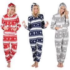 adults fleece all in one pyjamas pjs mens nightwear