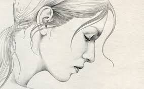 gallery pencil sketch of girls with sad mood drawing art gallery