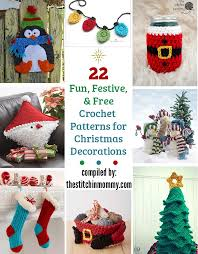 22 festive free crochet patterns for decorations