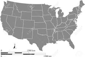 Map Of Usa Black And White by Usa Map With Scale Royalty Free Cliparts Vectors And Stock