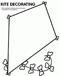 kite coloring page visual closure pinterest kites in