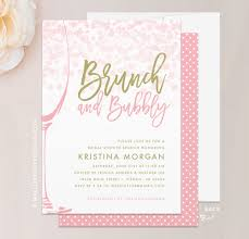 brunch bridal shower invites brunch bubbly bridal shower invitation mallory design