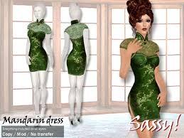 second life marketplace sassy mandarin dress emerald green