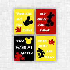 Mickey Mouse Room Decor Mickey Mouse Room Decor Art You Are My Sunshine Disney Wall