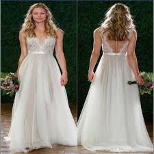watters wedding dresses discount 2017 bohemian watters wedding dresses a line v neck lace