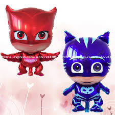 aliexpress buy 50pcs lot pj masks balloons foil balloons