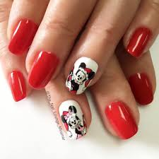 christmas mickey mouse minne mouse designs nails art zestymag