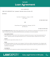 loan agreement template word doc job resume template word
