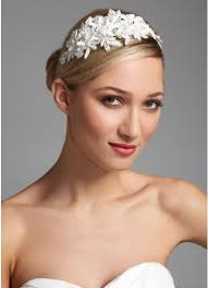 floral headband lace floral headband with pearl accents david s bridal