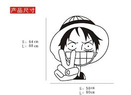 mercedes decal sticker mercedes luffy one car wall stickers japanese decals