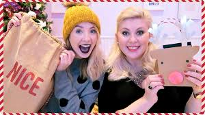 christmas gift giving with louise 2016 zoella youtube