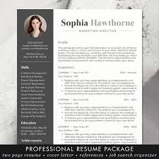 Modern Resume Template Free Word Resume Template With Photo Professional Modern Cv Word Mac