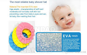 baby shower cap adjustable baby shower cap protect shoo for baby safety bath