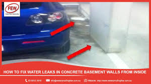 Cement Walls In Basement by How To Fix Water Leaks In Concrete Basement Walls From Inside