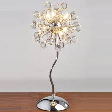 Bedroom Table Lights Modern Dandelion Bedroom Bedsides Table Lights Chrome Base