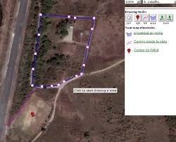 draw on line on google maps