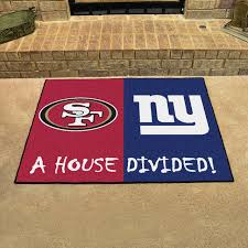 nfl san francisco 49ers and new york giants house divided rugs