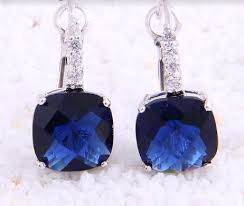 tanzanite earrings december birthstone dainty style tanzanite earrings