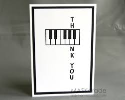 what a card for a piano or the a key on the