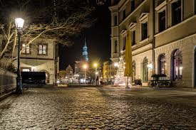wallpaper germany new year zwickau christmas tree street night time