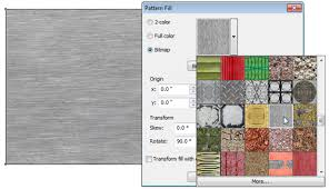 pattern fill coreldraw x6 how do you reproduce brushed aluminum or satin nickel coreldraw