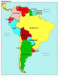 The Americas Map Map Of South America Countries And Capitals Map Of South America