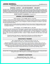 It Security Resume Examples by Criminal Justice Resume Uses Summary Section Of The Qualifications