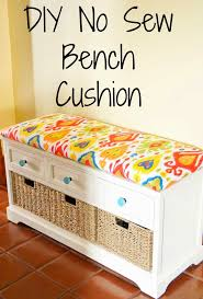 Build A Toy Box Bench by Diy No Sew Bench Cushion Bench Cushions Staple Gun And Plywood