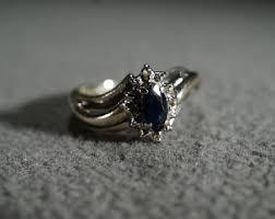 vintage art deco sapphire ring etsy