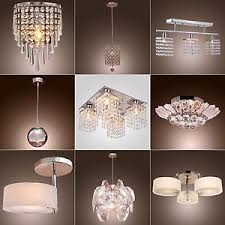 Ebay Ceiling Light Fixtures by Vintage Modern Fixture Ceiling Light Lighting Crystal Pendant