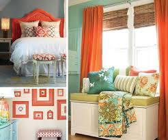 our bedroom coral and blue upper right color pinterest