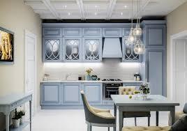 cuisine bleu clair 1001 astuces comment aménager une cuisine en longueur