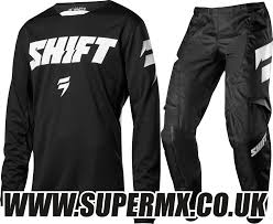 motocross gear combo 2018 shift youth whit3 97 motocross kit combo black super mx