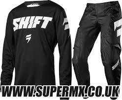 youth motocross gear 2018 shift youth whit3 97 motocross kit combo black super mx