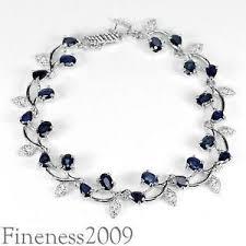 sterling silver bracelet with sapphire images Blue sapphire bracelet ebay JPG