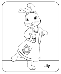 rabbit treehouse rabbit colour treehouse colouring pages