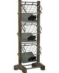 3 tier stand get this amazing shopping deal on wood and metal basket 3 tier stand