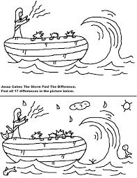 jesus calms storm coloring zimeon
