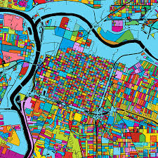 Zip Code Map Sacramento by Sacramento California Colorful Map Digital Art By Knut Hebstreit