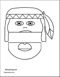 paper bag puppet thanksgiving wanoag abcteach