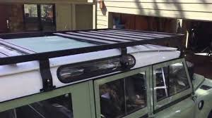 land rover safari roof 31 front runner roof rack install land rover series 2a youtube
