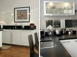 cuisine noir et blanc deco cuisine noir et blanc un carrelage contemporain en noir et