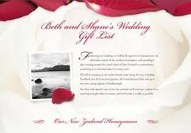 wedding gift list wording exle honeymoon funds and wedding gift lists buy our honeymoon