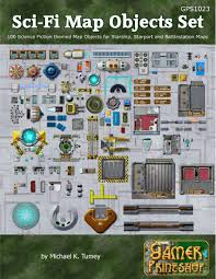 sci fi map objects set gamer printshop photo map objects