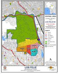 Los Angeles City Map by Boundary Map Los Feliz Neighborhood Council