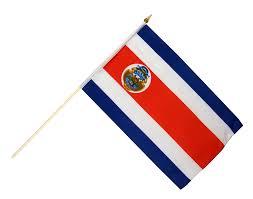 Costarican Flag Costa Rica Hand Waving Flag 12 X 18 Inch Best Buy Flags Co Uk