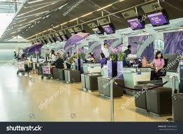 bangkokdecember 16passengers international check desk on stock